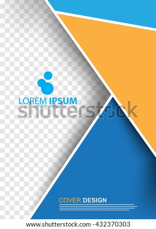 A4 size corporate template design, annual report concept vector background - stock vector