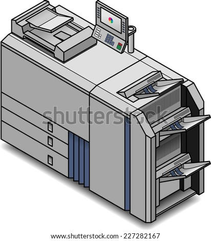 A small digital press/copier/scanner/printer/publisher .  - stock vector