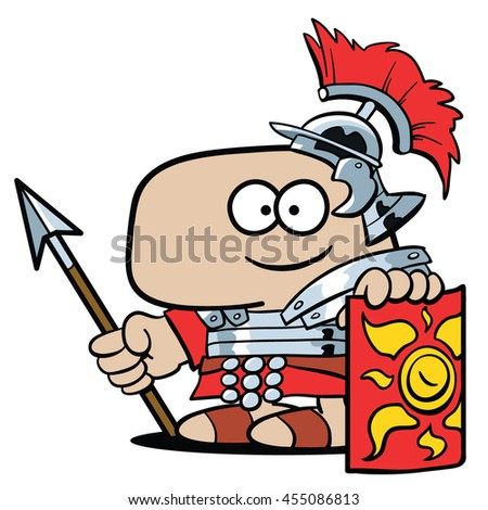 A soldier in the Roman legions - stock vector