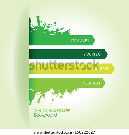a splash green line arrow line background - stock vector