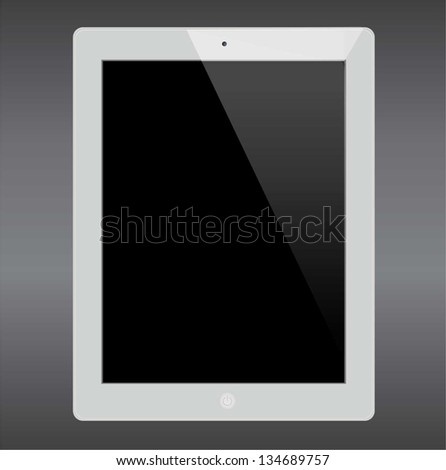A tablet computer like tablet on grey background - stock vector