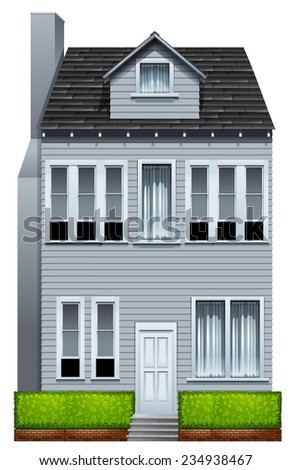 A tall building on a white background  - stock vector