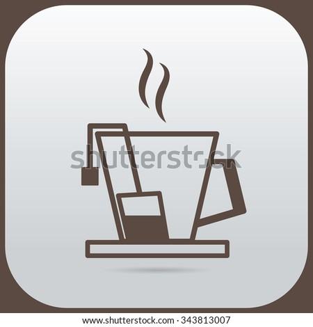 a tea cup icon Vector illustration EPS 10 - stock vector