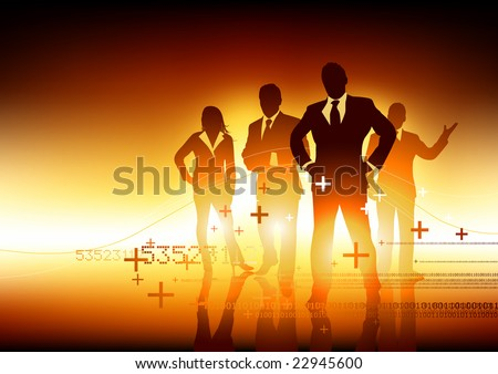 A team of experts. Vector illustration. - stock vector
