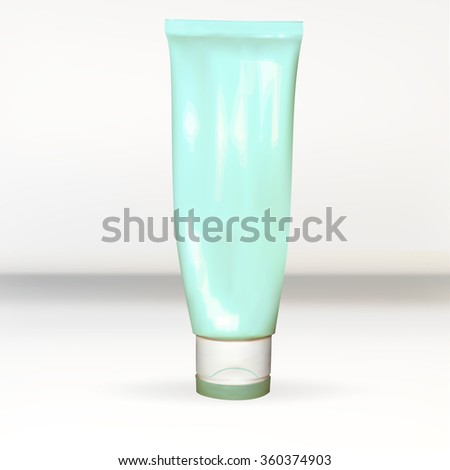 a tube of cream, lotion, white, empty, for applying your advertisement isolated vector new clean - stock vector