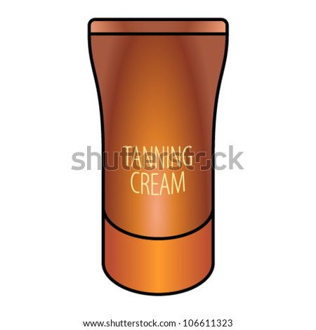 A tube of self tanning cream. - stock vector