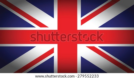 a united kingdom blue and red faded flag background - stock vector