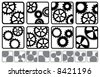 A variety of cog logos - stock vector