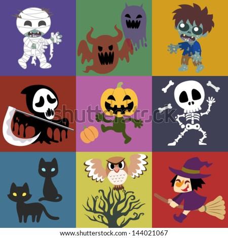 A variety of Halloween roles - stock vector