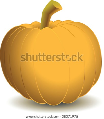 A vector clipart of a pumpkin. Available in AI8 EPS. - stock vector