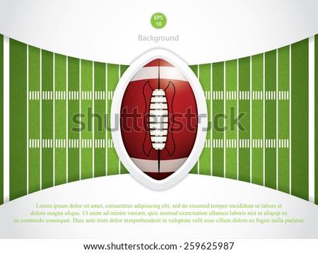 A vector grass textured American football field - stock vector