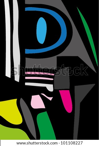A vector illustration of an abstract painting. - stock vector