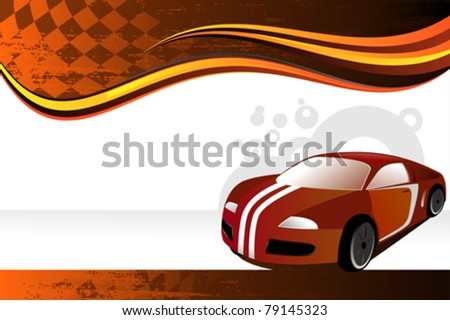 A vector illustration of an automobile or car banner - stock vector