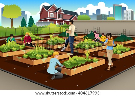 Similiar Community Garden Graphics Keywords