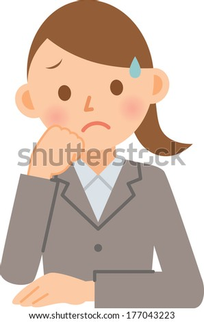 A vector illustration of young business woman - stock vector