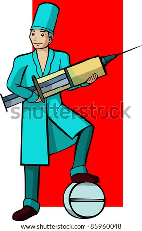 A vector image of a Doctor's profession. - stock vector