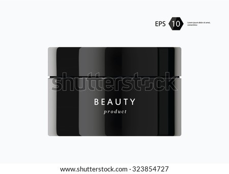 a vector modern beauty package presentation product - stock vector