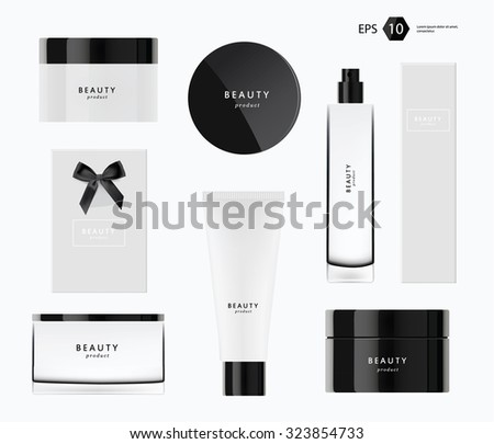 a vector modern beauty package presentation set  - stock vector