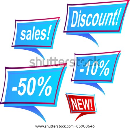 A vector of sale's labels. - stock vector