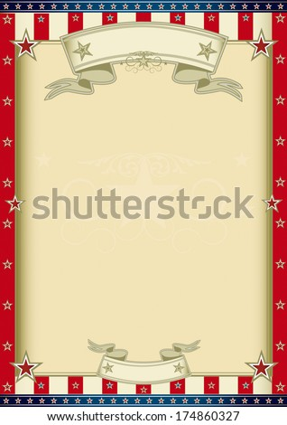 A vertical american poster for your message. - stock vector