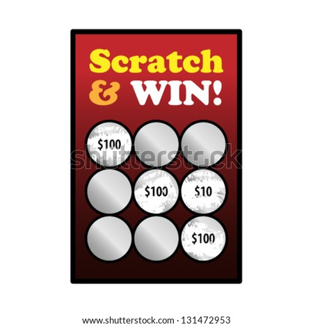 A winning scratch and win game card. - stock vector