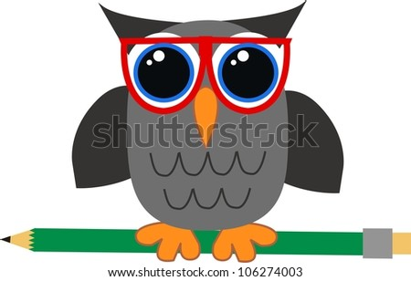 a wise owl - stock vector