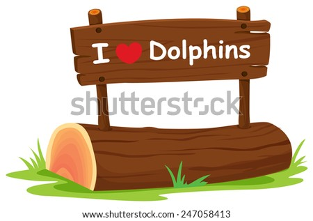A wooden signboard on a white background - stock vector