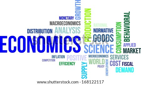 A word cloud of economics related items - stock vector