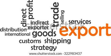 A word cloud of export related items - stock vector
