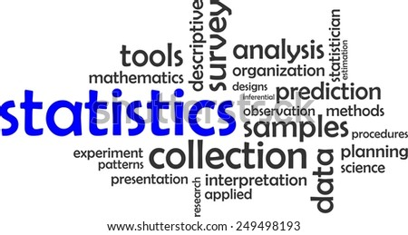 A word cloud of statistics related items - stock vector