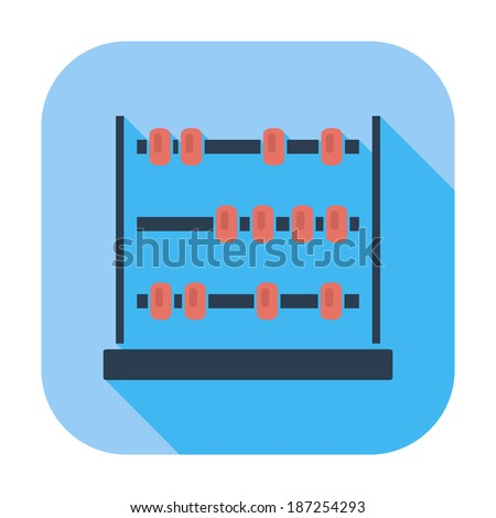 Abacus. Single flat color icon. Vector illustration. - stock vector