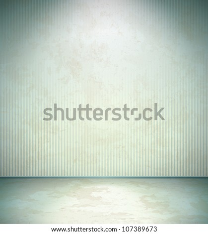 Abandoned room - stock vector