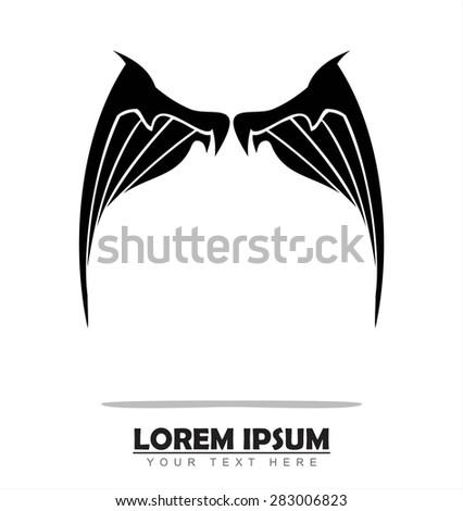 Abandoned Wing. Wing. - stock vector