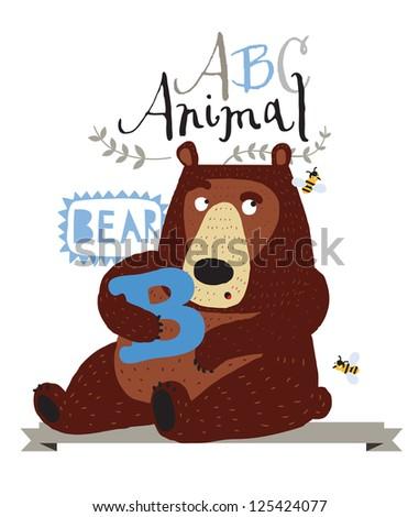 ABC animals: G is for giraffe. Vector Graphics - stock vector