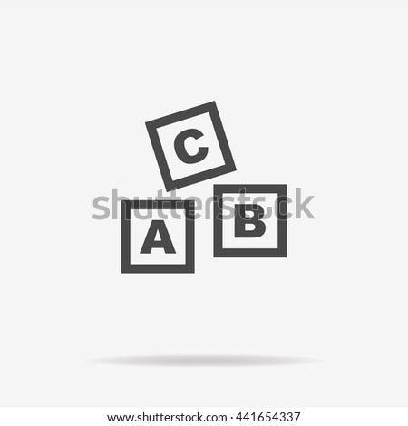 Abc blocks icon. Vector concept illustration for design. - stock vector