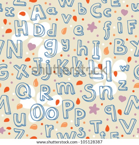abc seamless pattern - stock vector