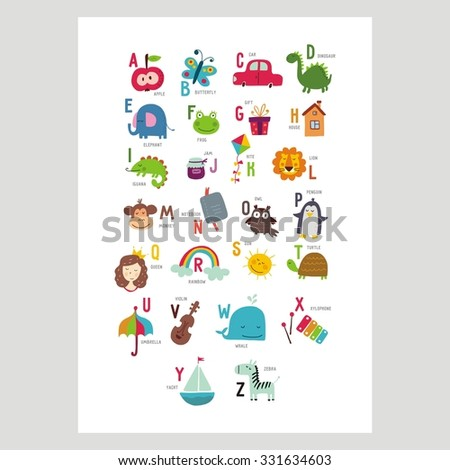 ABC vector design for kids - stock vector