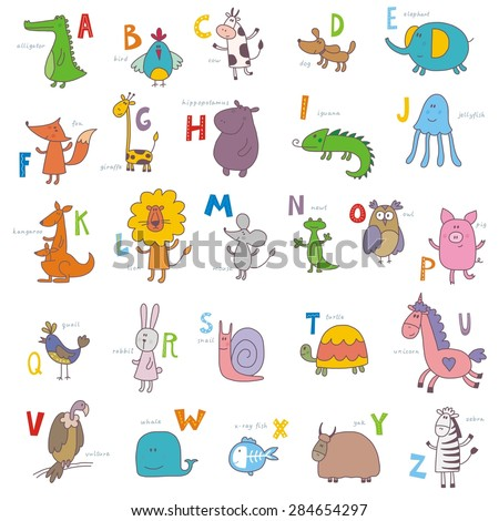 ABC zoo vector design - stock vector