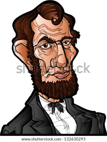 Abe Lincoln - stock vector