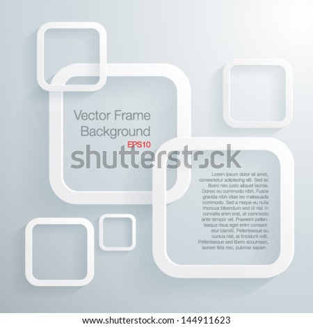Abscract 3D geometrical frame-Vector illustration - stock vector