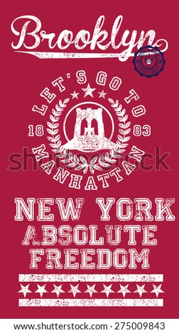 absolute freedom new york city vector art - stock vector