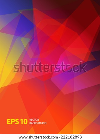 Absract geometric vector background. - stock vector