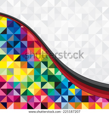 Absract trendy background of geometric pattern. Vector illustration. - stock vector