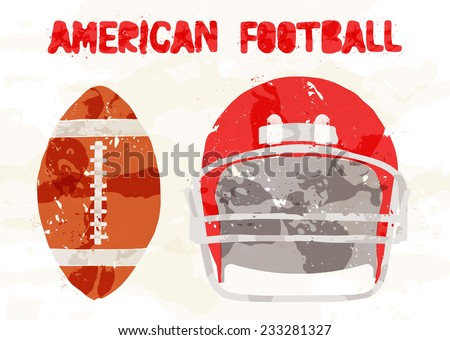 Abstract accessories American Football - stock vector