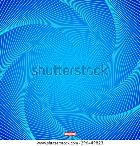 abstract angular dark blue pattern with aqua texture with cyan stairs with turquoise line on aquamarine background. vector illustration - stock vector