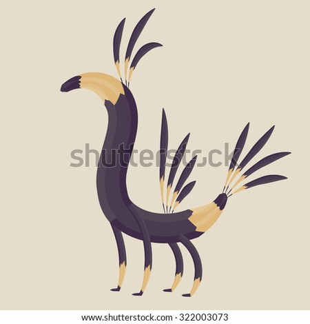 Abstract animal. Fantastic creature. Vector illustration. - stock vector