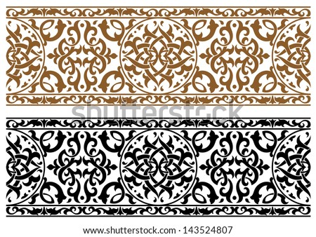 Abstract arabic ornament in two colors for design and ornate. Jpeg version also available in gallery  - stock vector