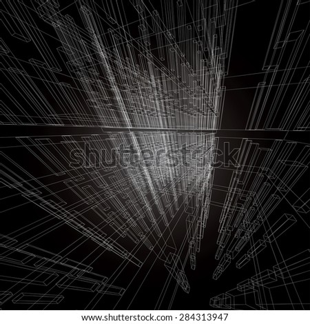 Abstract architectural vector background. - stock vector