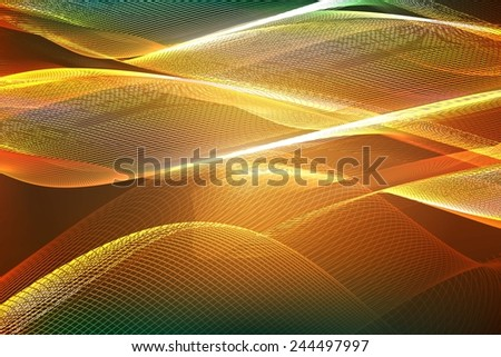 Abstract ardent background. Vector. abstract orange background of glowing lines - stock vector