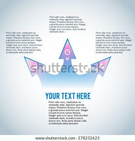 Abstract arrow background corporate concepts with icons infographics. Vector illustration EPS 10 for business workflow layout, web banner template, page magazine, advertising brochure design elements - stock vector